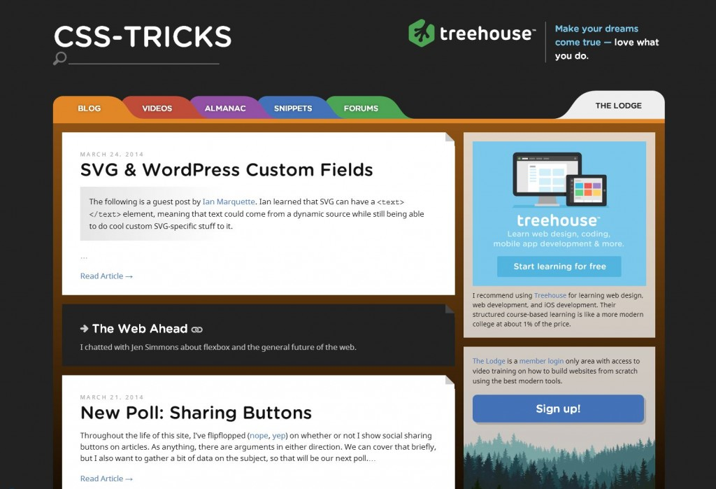CSS-tricks responsive website