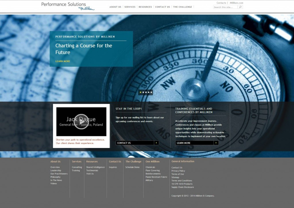 Performance Solutions by Milliken website