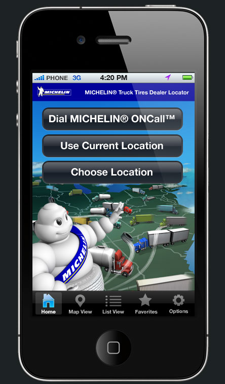 Michelin Truck mobile app