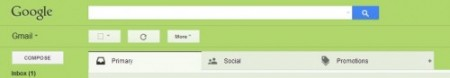 Gmail tab layout