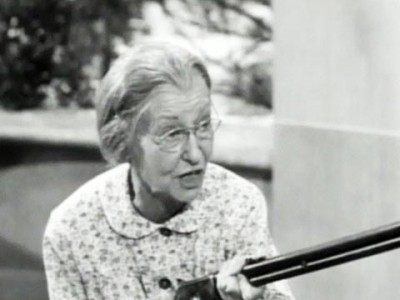 Granny Clampett with her shotgun