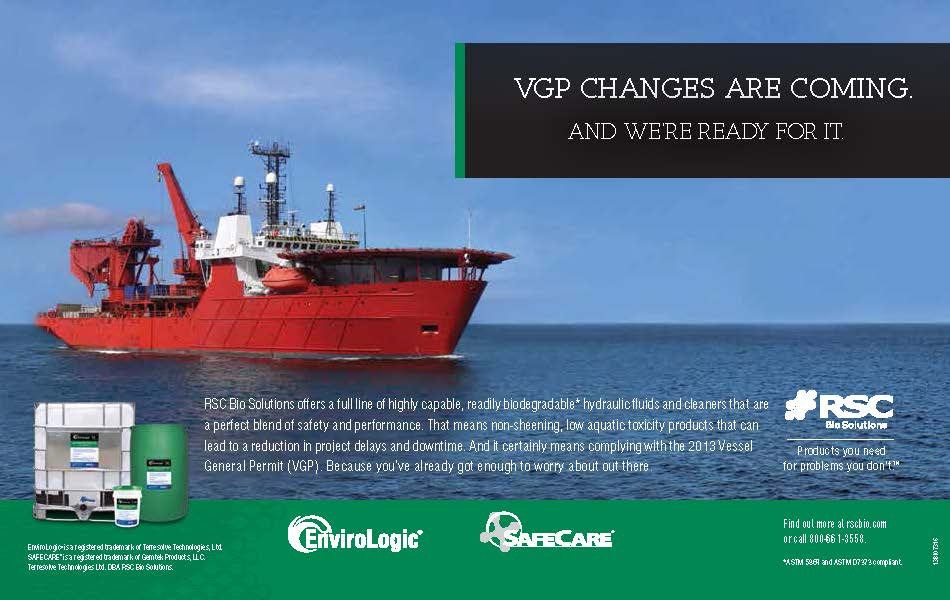 Maritime print ad for RSC BIO Solutions