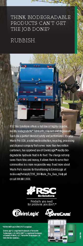 Waste Management brochure created for RSC BIO Solutions